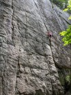 Little Kisses on the left and Five Star Crack on the right at the Lost T Cliffs
