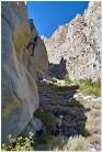 Andy Clarke on Grindulator (5.11b), Pratt's Crack Canyon, near Bishop, Eastern Sierra, California