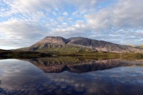 Late evening on Arkle across Loch Stack.