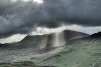Beam me up - sun beams breaking through the clouds over Cadair Idris