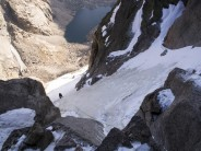 First pitch of the couloir proper