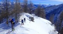 ski touring above Vallouise