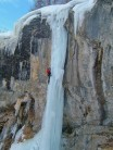 Ice climbing in the Fournel valley