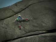 First ascent of Flight Mode on Hen Mountain
