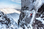 Callum Johnson Committed to the crux of the Flying Fox<br>© Marc Langley