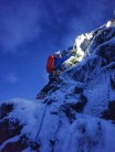 Dave Slade on the first ascent of After Church Arete