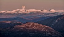 The Cairngorms at Moonrise