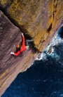 'Clo Mor Crack'. A soaring crack line cutting through the heart of the highest sea cliffs on mainland Britain