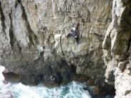 Dan Gibson post crux and cruising on Melpomene