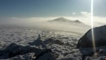Snow man at Hare Tor Dartmoor Winter 2020