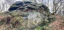 The Trig point crag. needs gardening.
