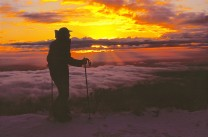 Dawn rising over Mt Hutt, NZ