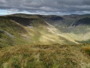 Falcon Craig, Hart Fell, Hart Fell Rigg and Cape Law from Nether Coomb Craig.