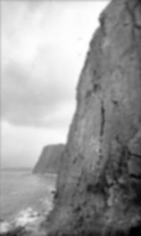 Pat climbing at Blackchurch
