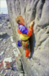Pat Littlejohn leading the modern phase of the development on Fay, Lower Sharpnose
