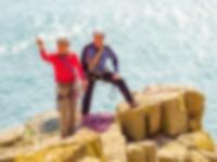 Dave Garner and Pat Littlejohn – Still enjoying sea cliff adventures