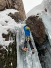 A steep ice step on the chasm