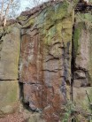 The correct wall for East Side Tale. Further right than described. The arete is out.