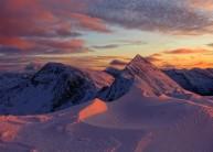 Sunset on the Devil's Ridge, Mamores
