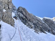 Very alpine day on green gully