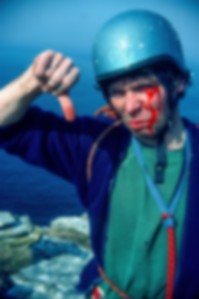 Mick Fowler during a facially challenging day on the north coast