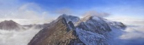 Oil Painting - 'Crib Goch and the Snowdon Horseshoe'  Oil on canvas (150cm x 50cm)
