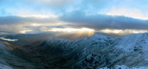 Sunbeams over Great Rigg; from Hart Crag