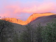 Sunset over Scafell