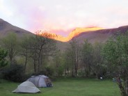 Sunset over Scafells