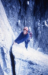 Splitter cracks on the Bonatti Pillar in 1990.