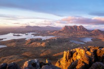 Golden hour from the top of Stac Pollaidh