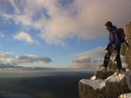 Lee Sheard on top of pikes crag