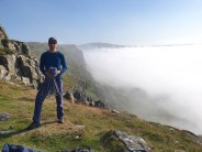 Haar creeping in after a 'cracking' day at Fairhead.