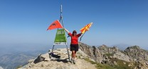 Korab summit 2764m. One foot in Albania and one in North Macedonia