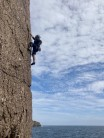 No pressure when the chap in front (John) styles the route with one leg and one prosthetic!