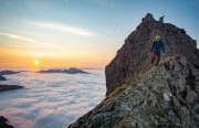 Sunrise on the second day of our traverse<br>© henrygiles99