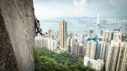 """This Photo was taken when Dennis kwok climbing on """" Poison Ivy"""" 8b+ at Central Crag, Hong Kong<br>© Tony Cheung"""
