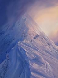 The Devil's Ridge, Mamores - painting, 362 kb