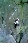 Justin? on Thing on a Spring? (E6 7a?) at Roaches Lower Tier