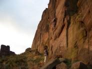 Evening climbing