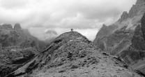 Dan & Tim on Hohe Leist La Lista (Italian Dolomites)