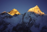 Alpenglow on Everest from Kala Patar