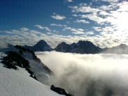 Looking NW over Tasman Glacier from Plateau hut