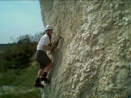Chalk bouldering at Ramsgate (vertically)