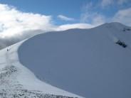 The snowy arete of Sgorr Dhearg. Ballachulish.