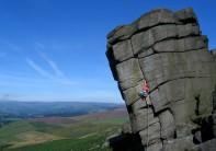 Lucy Creamer on The File (VS 4c), Higgar Tor, Peak District