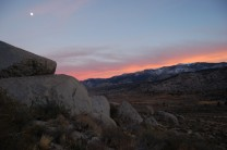 Moon rising over the Buttermilks