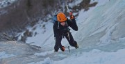 On the first pitches of Fabrikkfossen, Rjukan<br>© g taylor