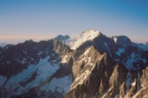 Barre des Ecrins - from below the summit of the Grande Ruine