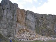 Intake quarry rockfall